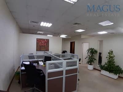 مکتب  للبيع في الخليج التجاري، دبي - Fully fitted with partitions office | Al Manara