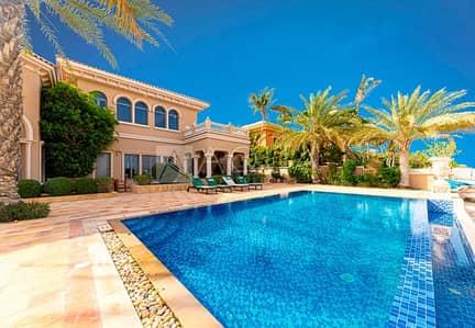 7 Bedroom Villa for Rent in Palm Jumeirah, Dubai - Signature Spanish Grand Majilis | High Number