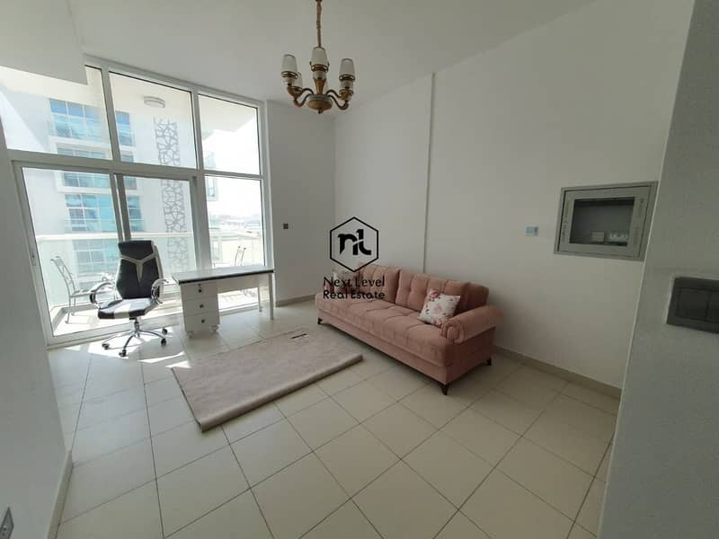 New Studio in Glitz 3 - Semi Furnished - Balcony & Parking - 27K by 1 Cheque