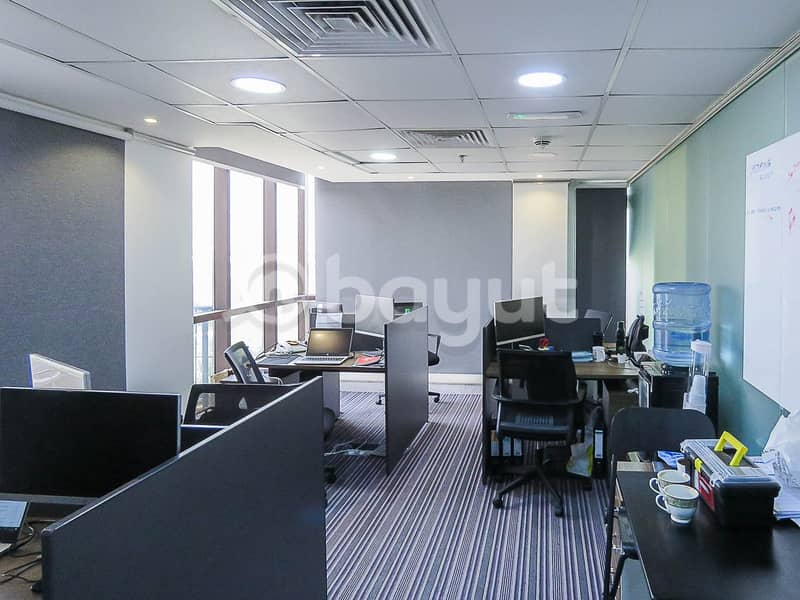 2 OFFICE SPACES with Breathtaking  View in Garhoud