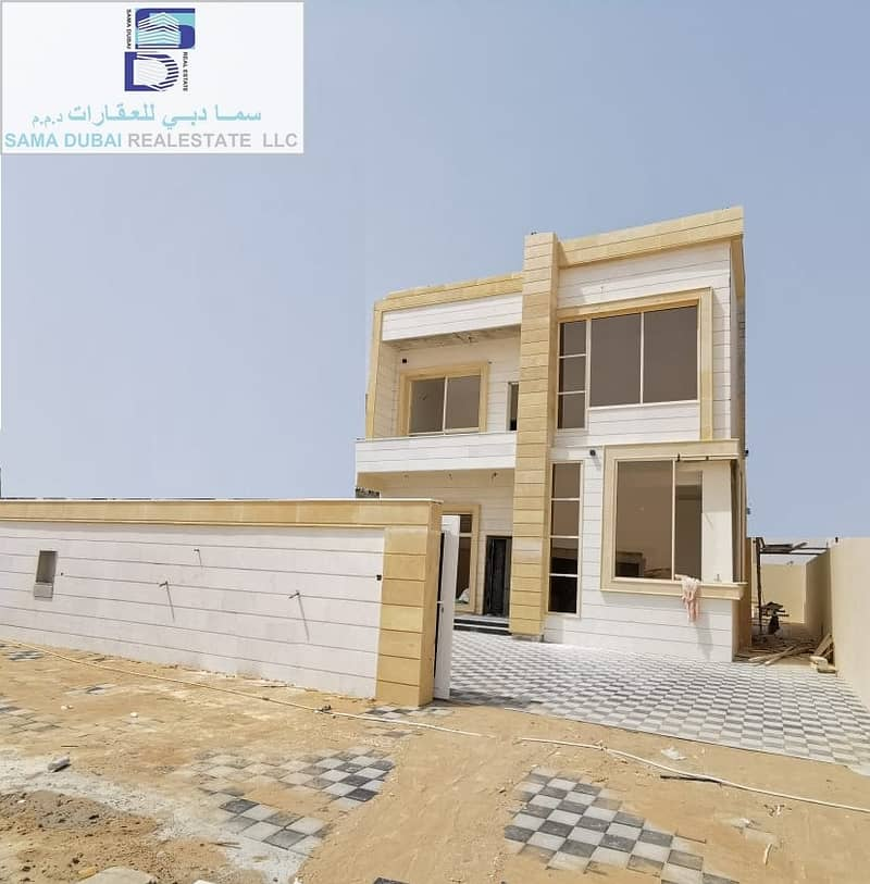 A new villa, a large area, close to all services, in the finest areas of Ajman , freehold for all nationalities