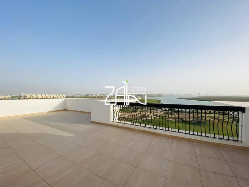 2 Full Golf Sea View 3+M Apt with Large Terrace For Rent