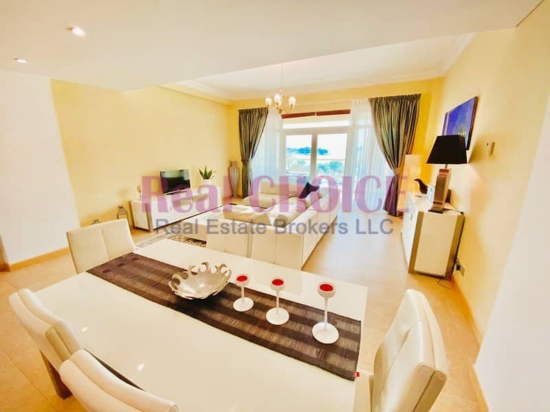 2 1BR Sea View|Burj Al Arab View|Fully Furnished