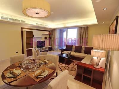 شقة 2 غرفة نوم للايجار في نخلة جميرا، دبي - 2BR Plus Maids Amazing Sea View Furnished