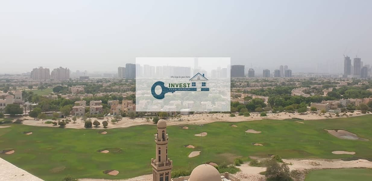 Golf Course View | 2BR Apt with Balcony for Rent