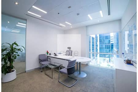 مکتب  للايجار في الخليج التجاري، دبي - Fitted and Furnished Office | Low Floor