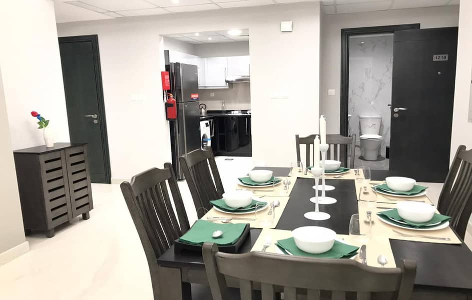 2 Upgraded Brand New Fully Furnished 4 BR Apt With Burj Khalifa and Canal View