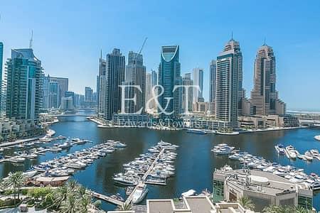شقة 3 غرف نوم للايجار في دبي مارينا، دبي - Fully Furnished | Best Marina View | Available Now