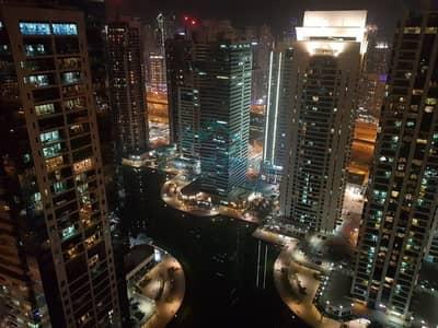 شقة 2 غرفة نوم للايجار في أبراج بحيرات الجميرا، دبي - Upgraded| Beautiful View| High Floor| Unfurnished