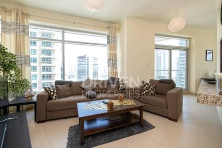 فلیٹ 1 غرفة نوم للايجار في وسط مدينة دبي، دبي - High Floor Apt with Burj Views