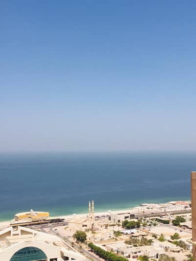 2 Bedroom Flat for Rent in Al Sawan, Ajman - 2 bhk partial sea view  biggest size with 2 store and parking in Ajman one tower