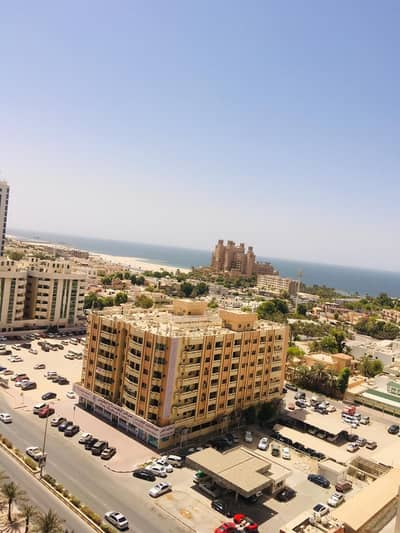 2 Bedroom Flat for Rent in Al Sawan, Ajman - 2 bhk full sea view closed kitchen with parking for rent in ajman one tower