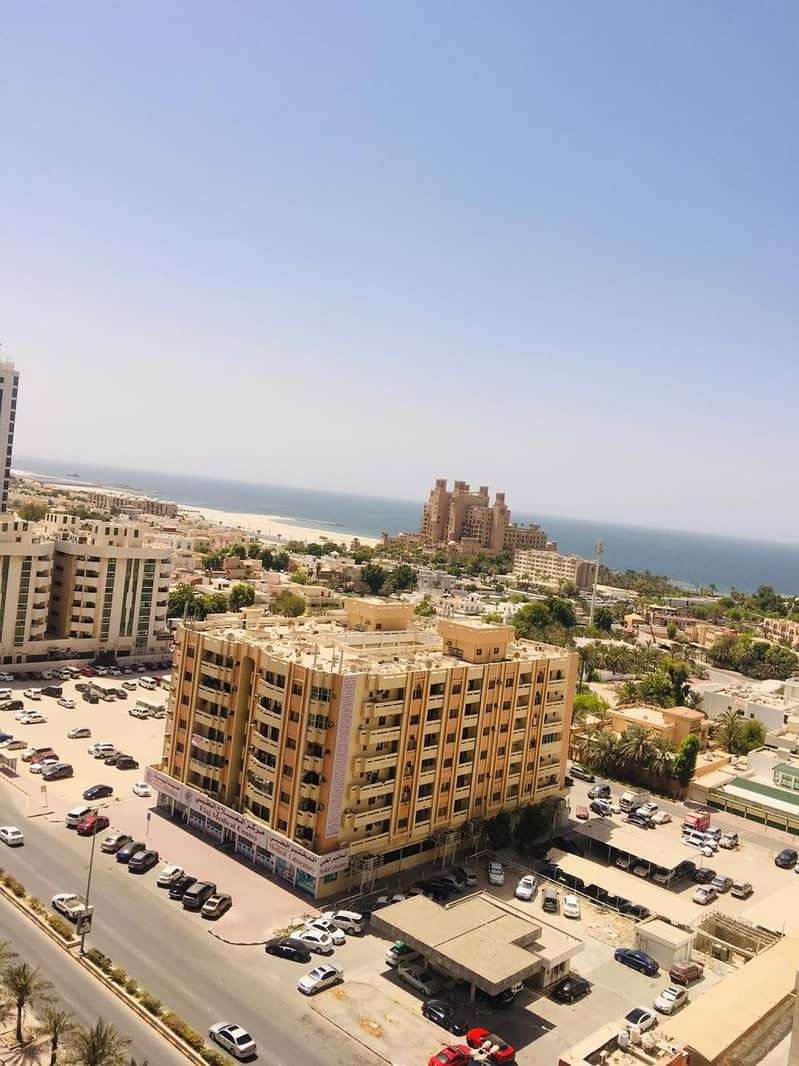 2 bhk full sea view closed kitchen with parking for rent in ajman one tower