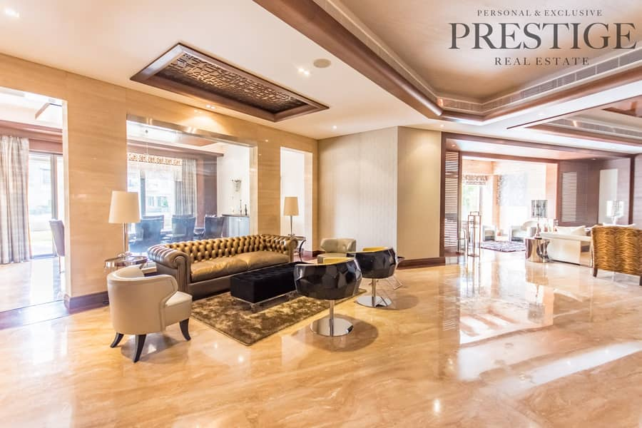 6 Bed | Emirates Hills | Villa with Cinema | Full lake view