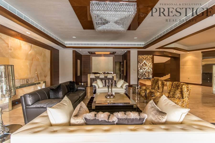 2 6 Bed | Emirates Hills | Villa with Cinema | Full lake view