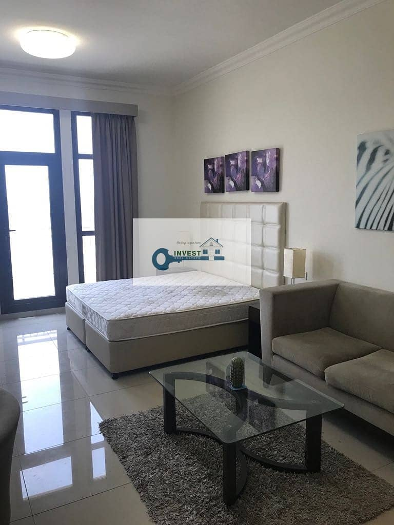 12 BEST PRICE | ONLY 30K IN 4 CHEQS | HUGE FURNISHED STUDIO APT. MODERN LAYOUT | CALL NOW