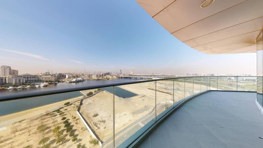 Dubai creek views | balcony | Free maintenance