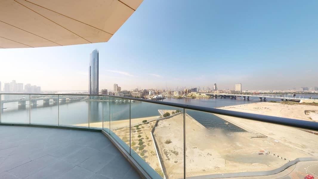 2 Dubai creek views | balcony | Free maintenance