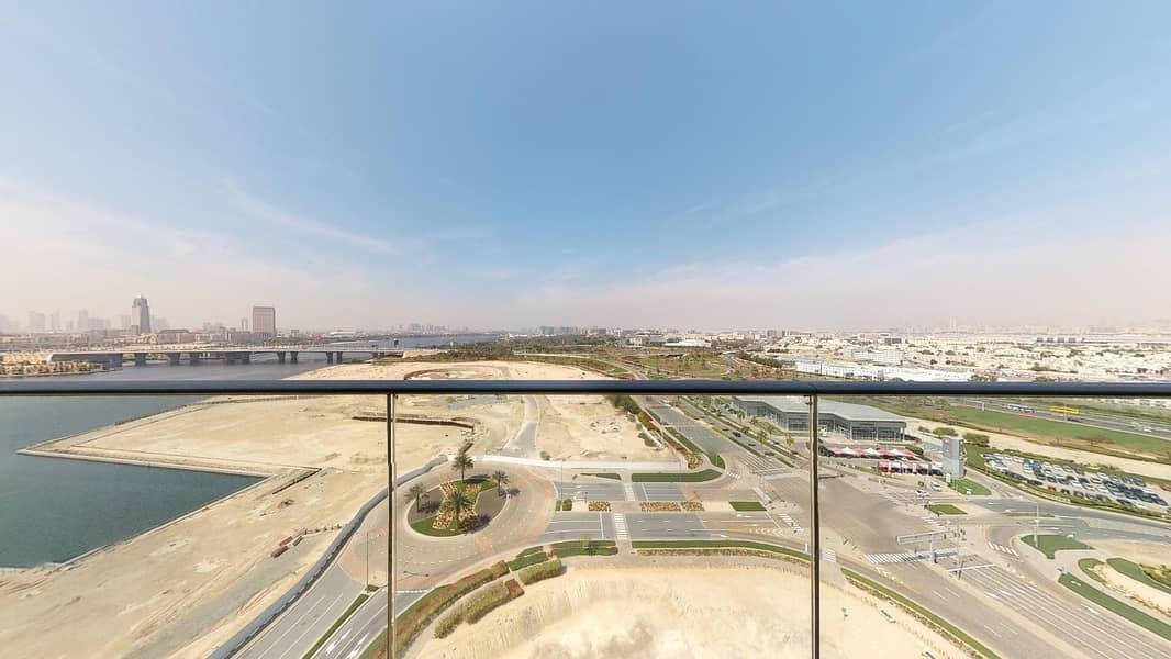 Balcony | Dubai creek view | 1 month free