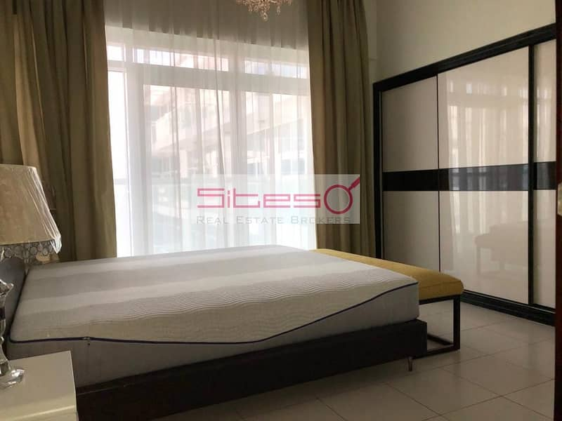 Furnished 2BH + maids / Courtyard view /4 cheques