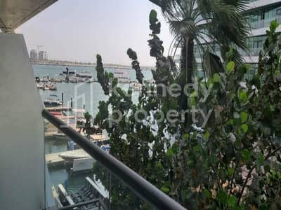 فلیٹ 1 غرفة نوم للايجار في شاطئ الراحة، أبوظبي - Sea and garden view | Long  balcony | Appliances  I