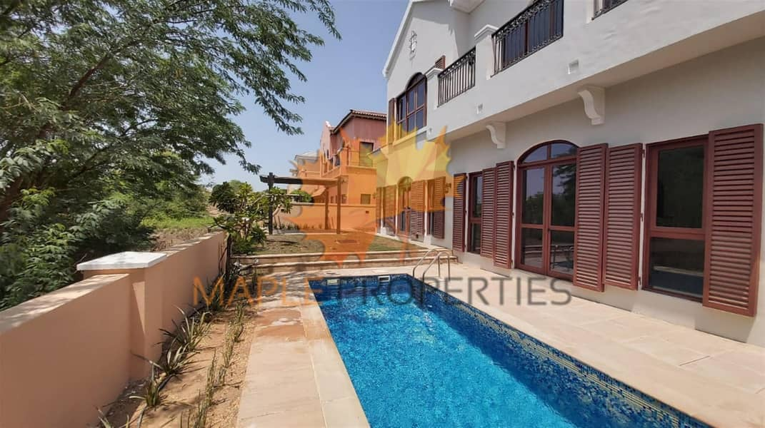 4BR+M Villa for Sale | Private Pool & Garden| Golf Course View