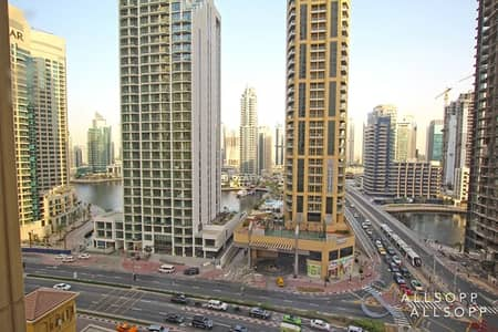 1 Bedroom Apartment for Rent in Jumeirah Beach Residence (JBR), Dubai - Marina View | Unfurnished | Spacious 1 Bed