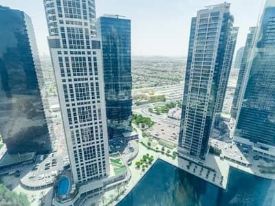 مکتب  للايجار في أبراج بحيرات الجميرا، دبي - Fitted with Partitioned | Lake View | DMCC