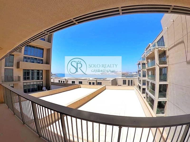 Amazing Sea View!!! I 3 BR+Maid Townhouse I Balcony+Capacious Courtyard