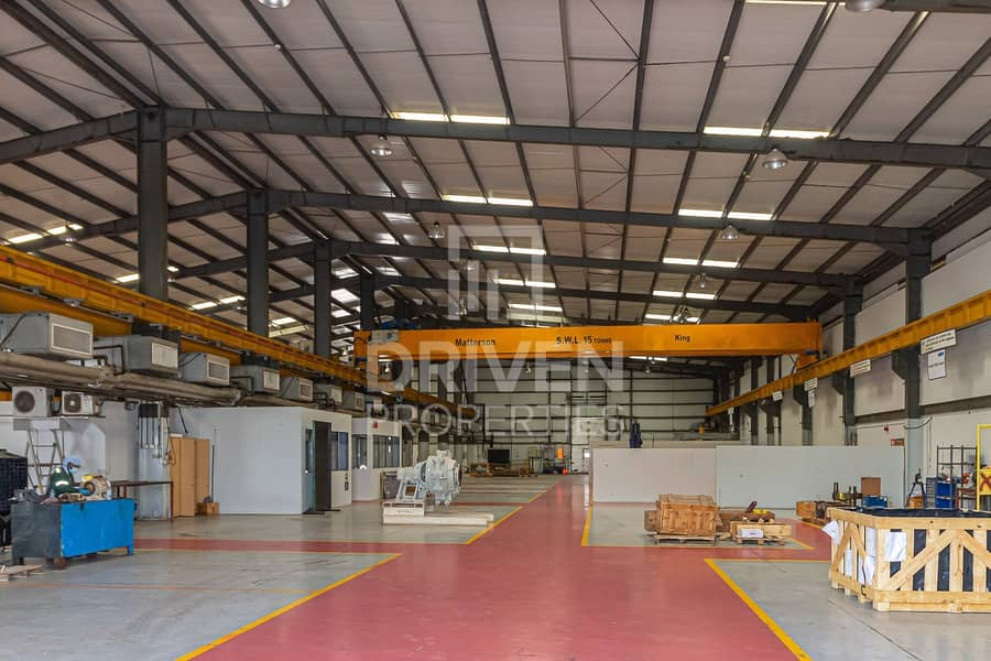 High Power Warehouse with Overhead Crane