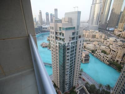 1 Bedroom Flat for Rent in Downtown Dubai, Dubai - Spacious 1BR | With spectacular Fountain Views | High Floor