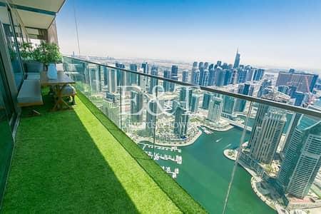 شقة 3 غرف نوم للايجار في دبي مارينا، دبي - Luxury Furnished | Panoramic Marina and Sea View