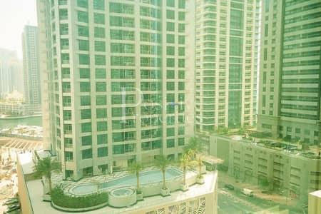 شقة 2 غرفة نوم للايجار في دبي مارينا، دبي - Large layout | Golf course view | Middle Floor