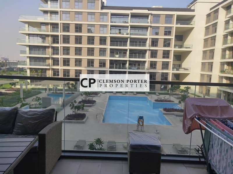 Pool and park View | Spacious and well maintained  | Ready to move in