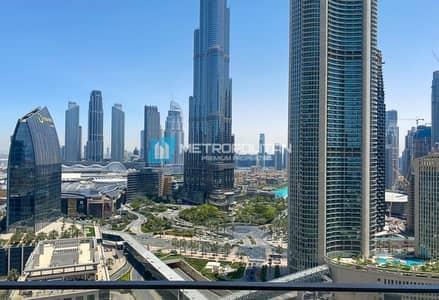 فلیٹ 3 غرف نوم للبيع في وسط مدينة دبي، دبي - High floor| Biggest Middle 3BR+M layout |Full view