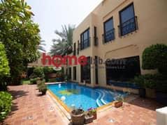 High-End Finishing, 5 BR Modern Arabic Villa, Near Beach