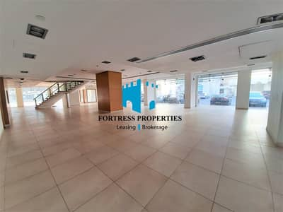 Showroom for Rent in Electra Street, Abu Dhabi - Corner SHOWROOM in the Heart of Electra Street | GF + M & Basement |  1