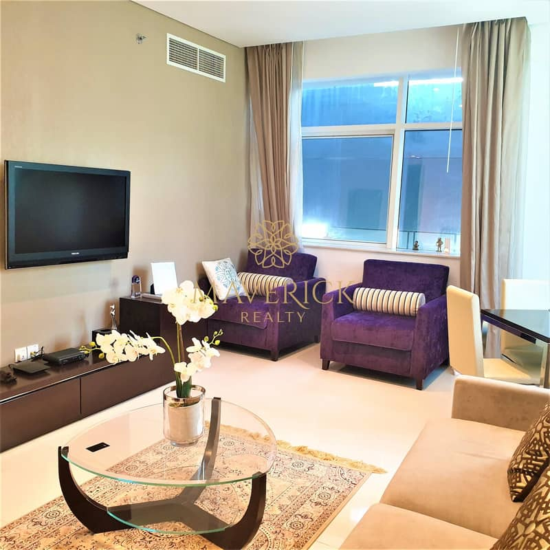Fully Furnished | Luxury 1BR | 6 Cheques