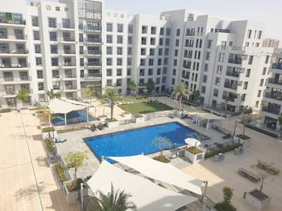 شقة 2 غرفة نوم للبيع في تاون سكوير، دبي - Rented Unit | Pool View | Spacious 2BR Apartment with Balcony | Zahra 2B