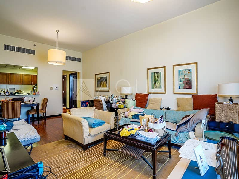 Fully Furnished 1 Bed   Full Marina view