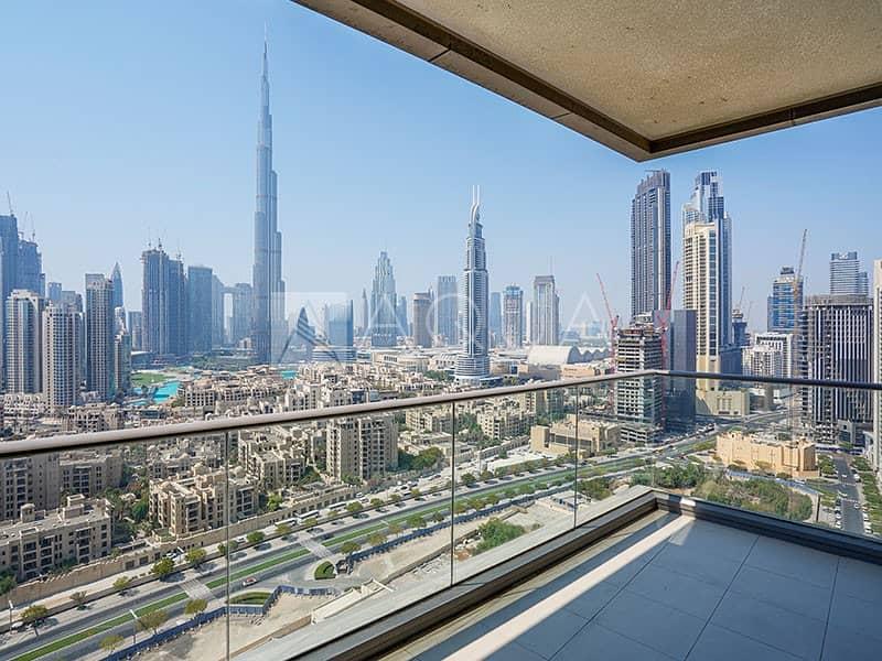 Full Burj and Fountain Views | 3 BR w Maids