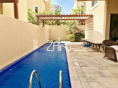 4 Bedroom Villa for Rent in Al Raha Gardens, Abu Dhabi - Modern 4+M Villa Type A with Pool and Garden For Rent