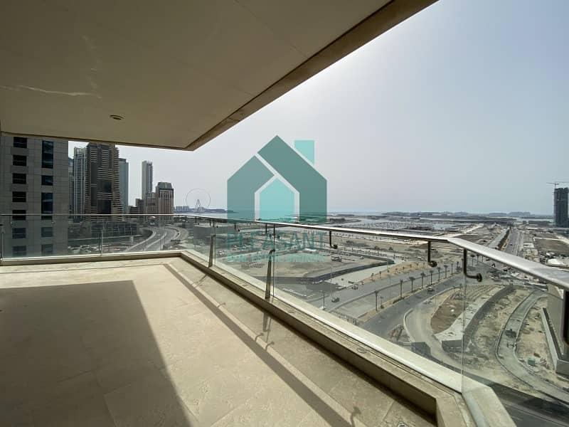 10 Open On Call Sea View 4BR Apt  Le Reve Dubai Marina