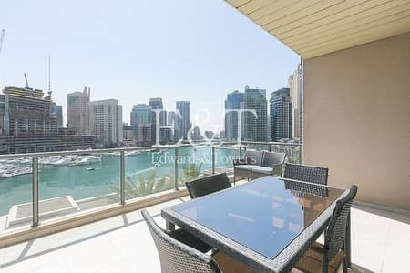 3 Bedroom Apartment for Rent in Dubai Marina, Dubai - Upgraded Floor and Appliances | Full Marina View