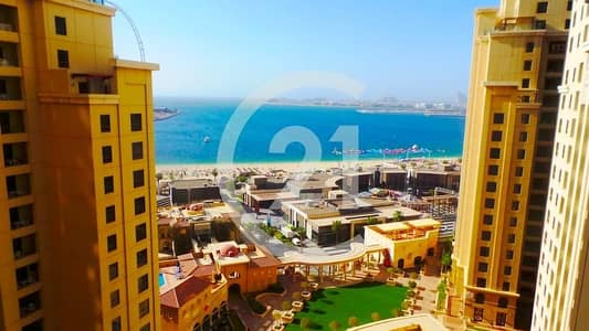 2 Bedroom Apartment for Rent in Jumeirah Beach Residence (JBR), Dubai - 14 MONTHS CONTRACT | 0% COMMISSION | 2 BR FOR RENT READY TO MOVE IN | AMWAJ 3 JBR.