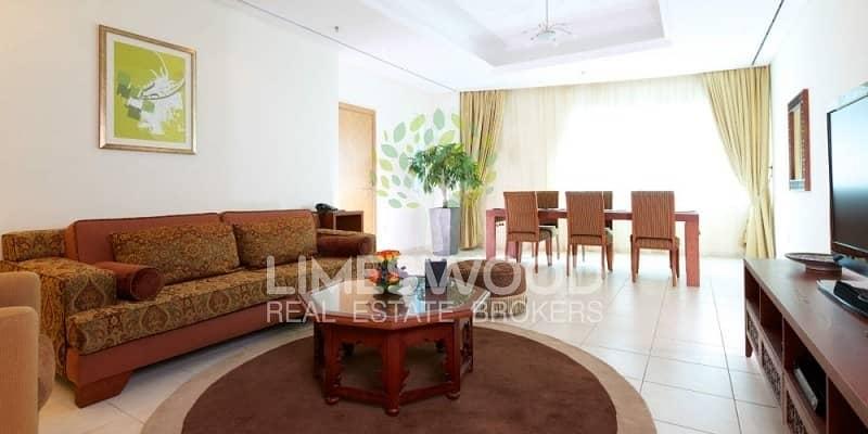 2 Spacious 2Br plus Maid's Hotel Apartment in Marina