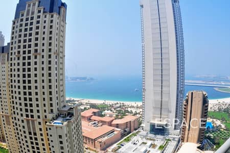 3 Bedroom Flat for Rent in Dubai Marina, Dubai - Sea View Spacious - Vacant - 4 Cheques Available