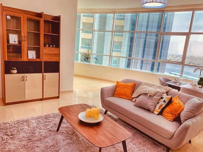 1 Bedroom Apartment for Sale in Al Bustan, Ajman - Room and hall for sale, large area