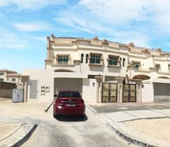 BEAUTIFUL 6 BEDROOM SEMI INDEPENDENT VILLA WITH MAID ROOM AND BACKYARD SPACE FOR RENT IN KHALIFA CITY A