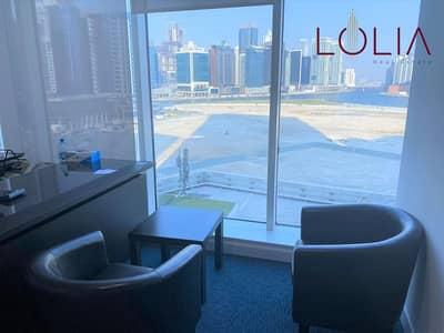 مکتب  للايجار في الخليج التجاري، دبي - Bright Office w/ full glass partion | Ready To Move in
